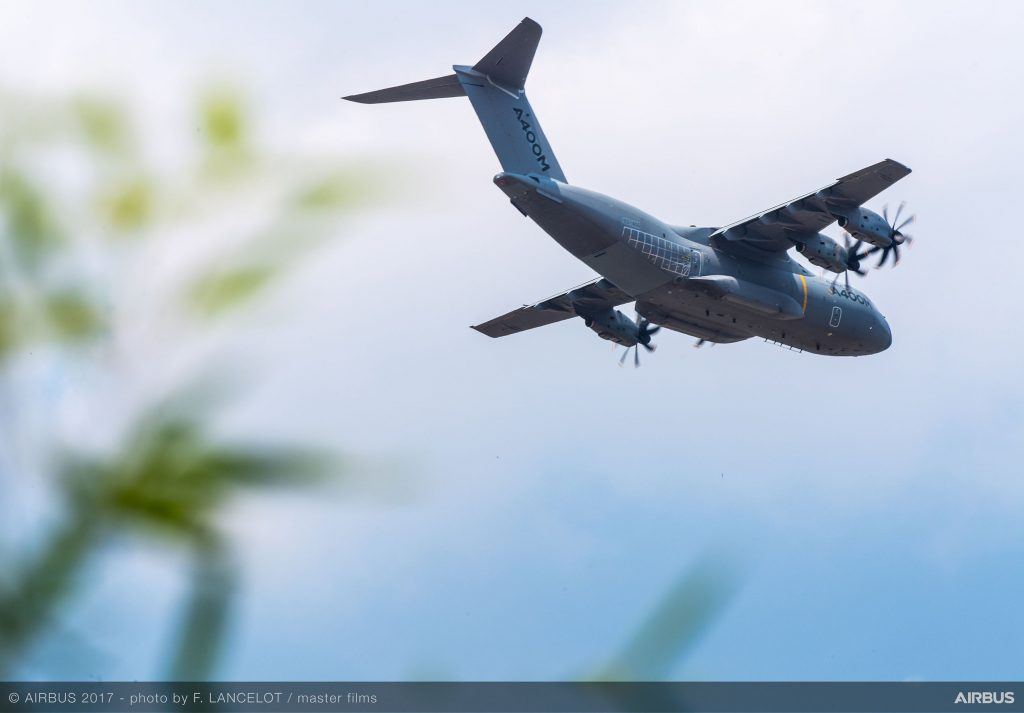 Airbus A400M's flight demonstration on June, 21st 2017 . <br>