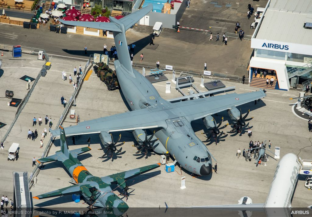 Airbus A400M airlifter on static display, Paris Air Show 2017<br>