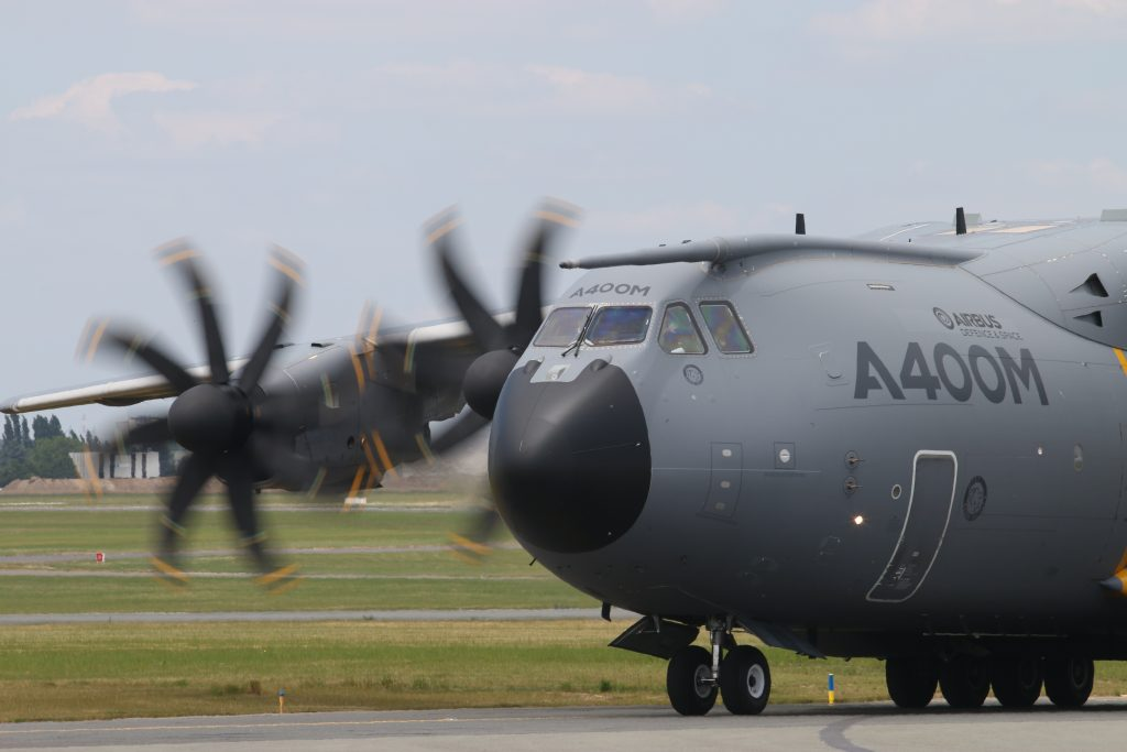 A400M at the Paris Air Show in june 2017