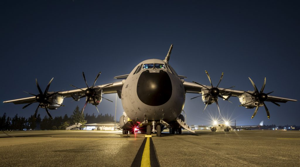 Meta: Royal Air Force A400M and TP400 engines on ground