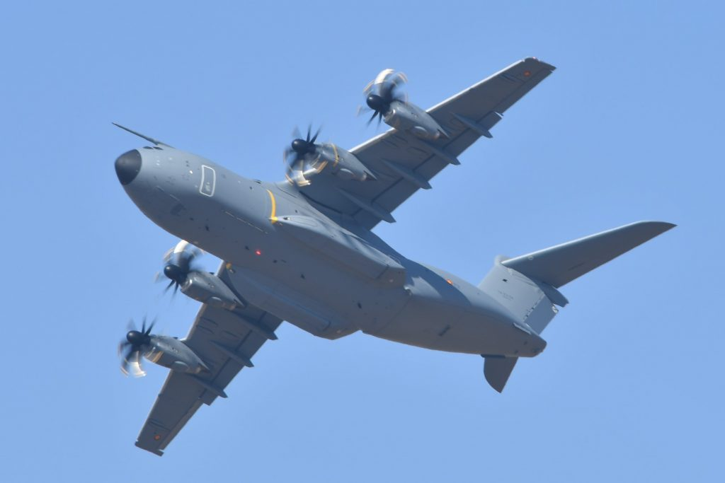 A400M flying display during FIDAE air show