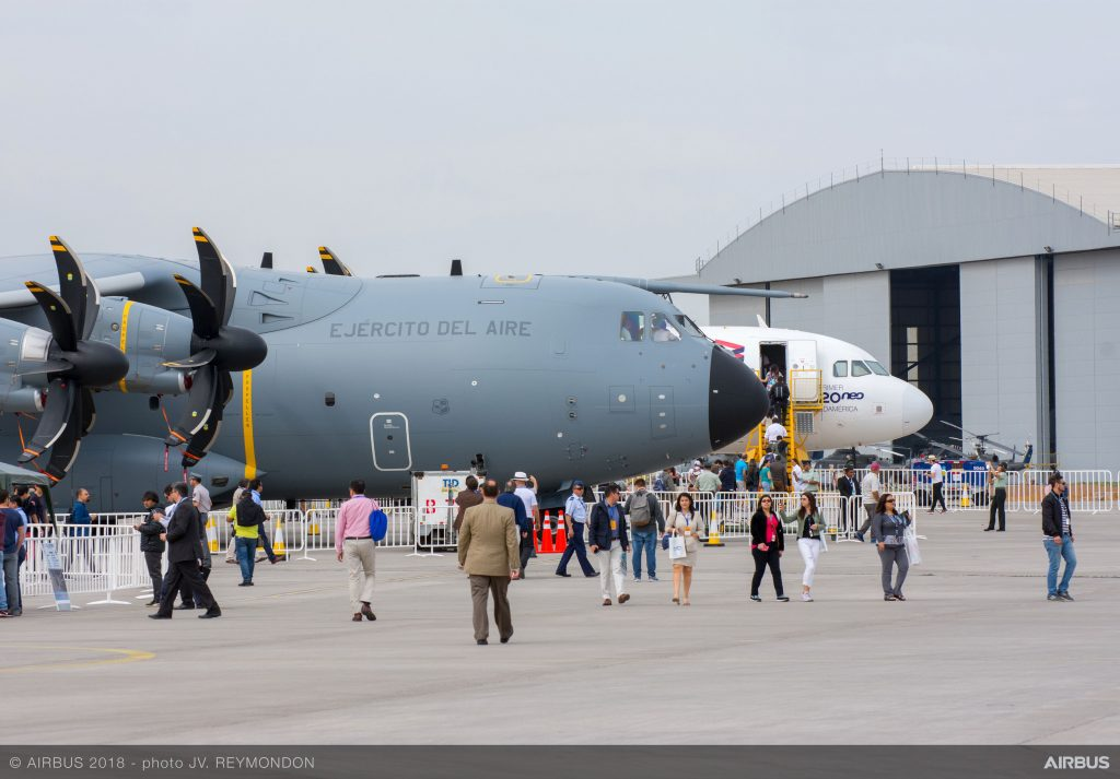 Airbus A400M at FIDAE 2018