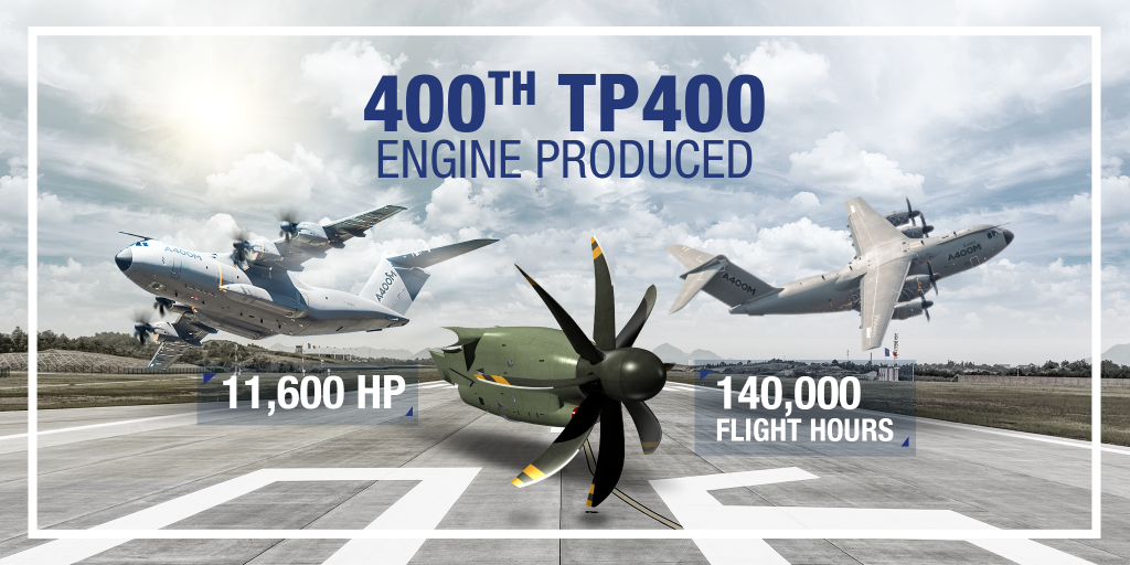 TP400-D6 engine celebrates 400th engine